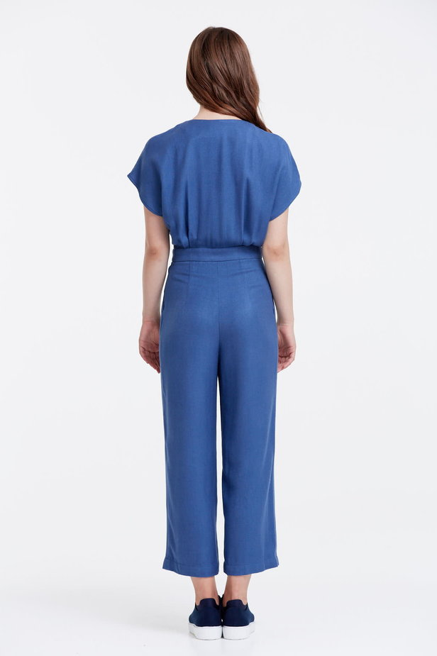 Blue jumpsuit with a zip photo 3 - MustHave online store