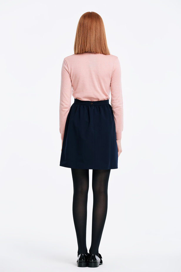 Powder pink polo neck photo 4 - MustHave online store