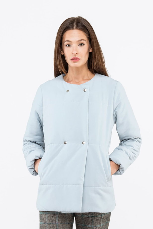 Blue grey jacket with snaps photo 1 - MustHave online store
