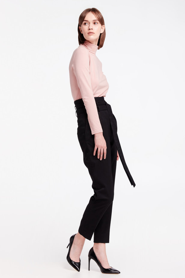 High-waisted black pants photo 7 - MustHave online store
