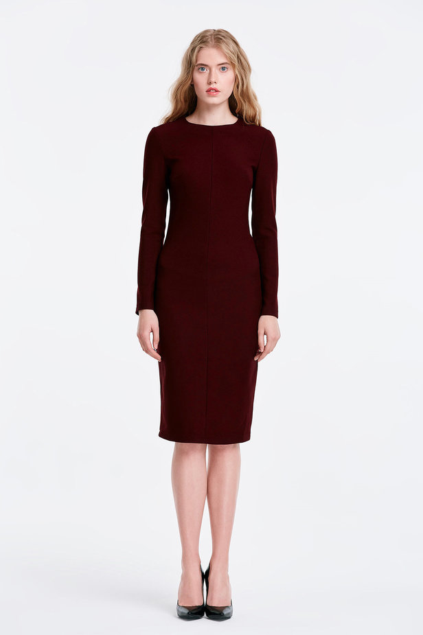 Column wine dress photo 4 - MustHave online store