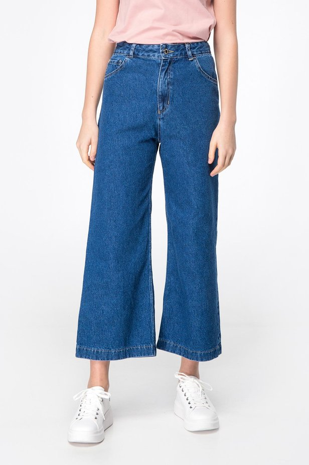 Blue jeans-culottes photo 1 - MustHave online store