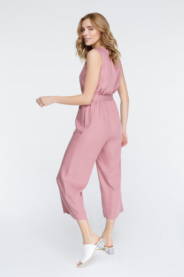 Pink jumpsuit with buttons photo 5 - MustHave online store