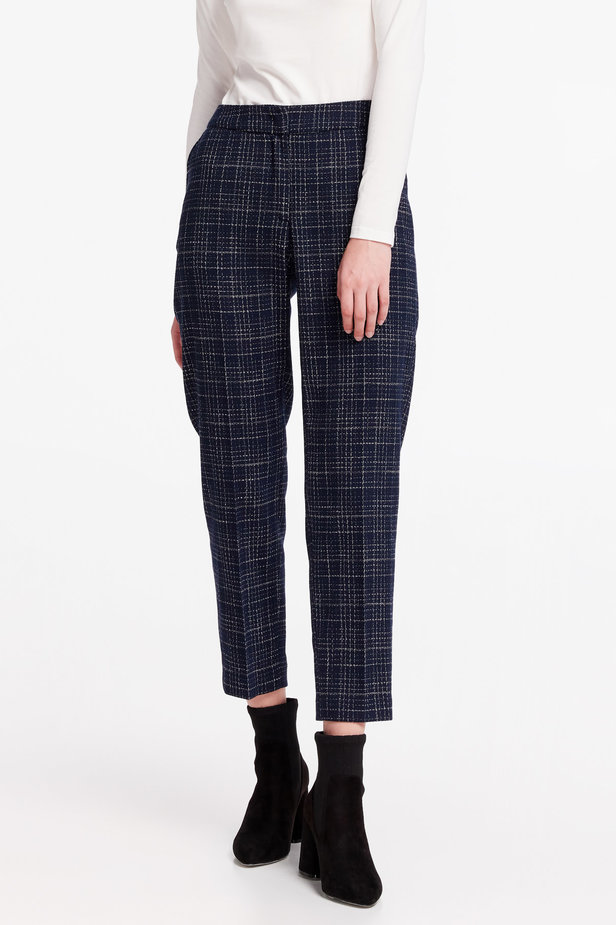 Dark-blue checkered pants photo 1 - MustHave online store