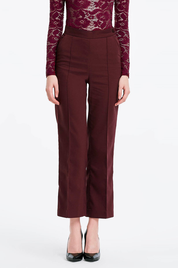 Burgundy trousers photo 1 - MustHave online store