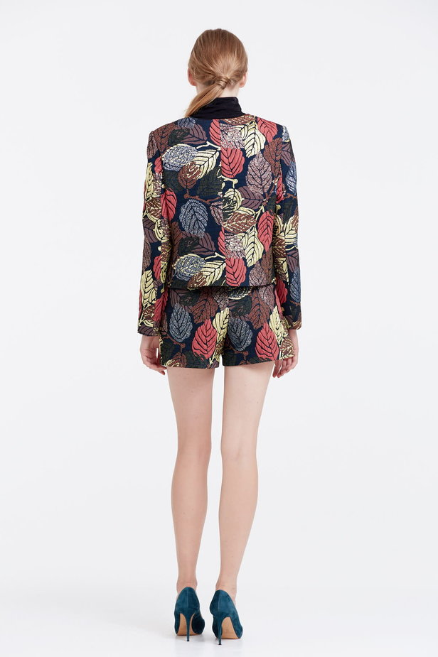 Short jacket with golden leaves photo 3 - MustHave online store