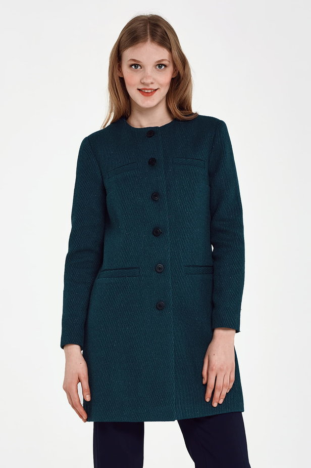 Long green jacket with lurex photo 2 - MustHave online store