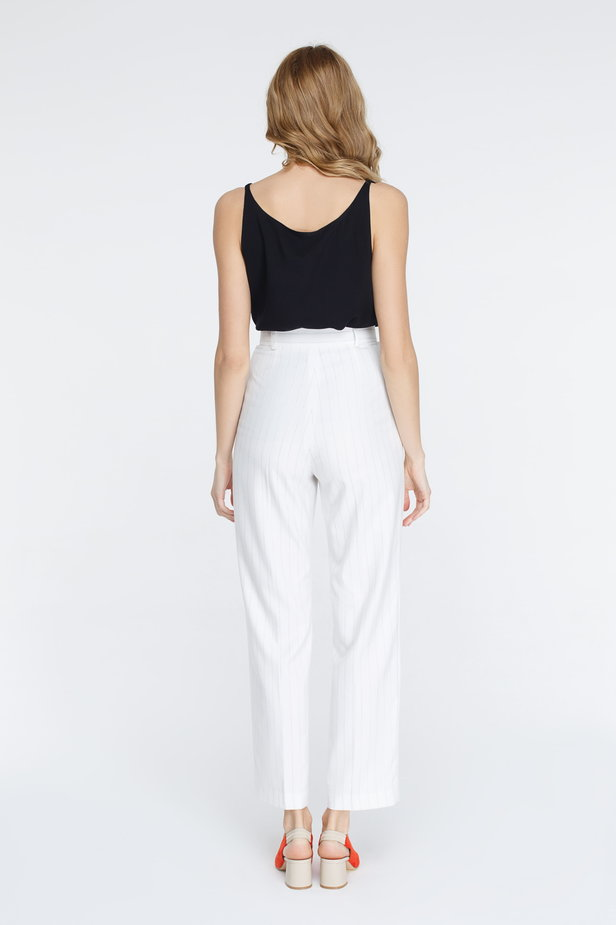 White pants with black stripes photo 4 - MustHave online store