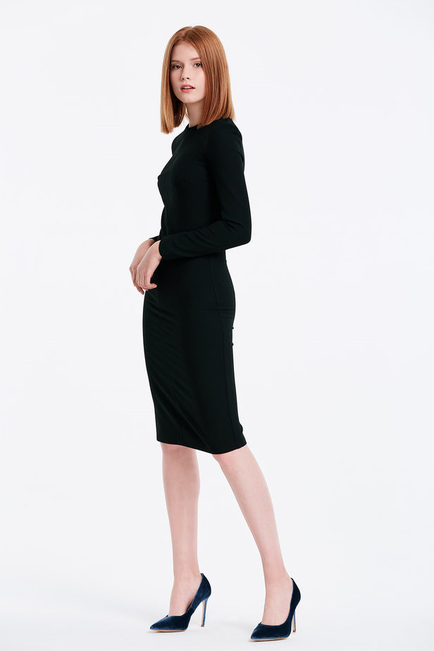 Column black dress photo 3 - MustHave online store