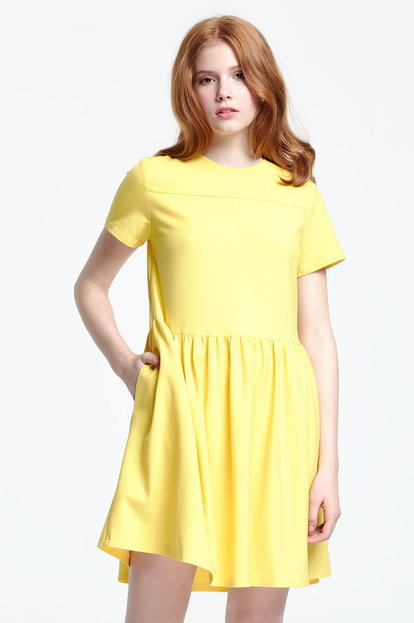 Swing yellow dress
