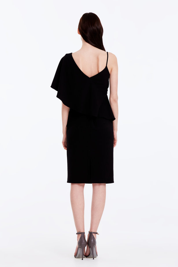 One shoulder dress with a flounce photo 7 - MustHave online store
