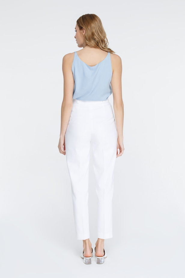 White pants with arrows and belt photo 4 - MustHave online store