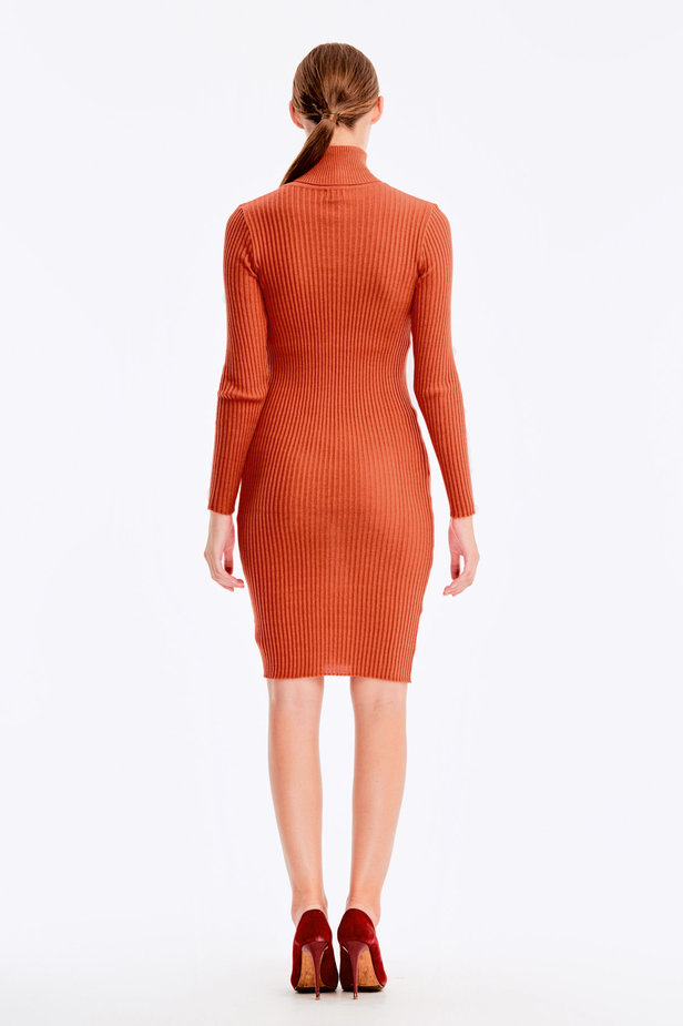 Terra-cotta knit dress photo 5 - MustHave online store