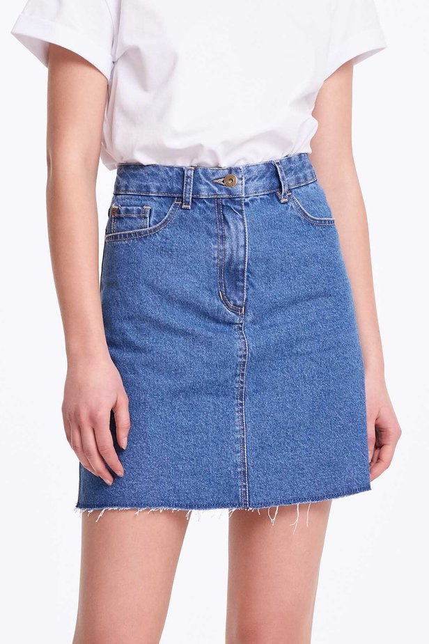 Mini denim skirt photo 1 - MustHave online store