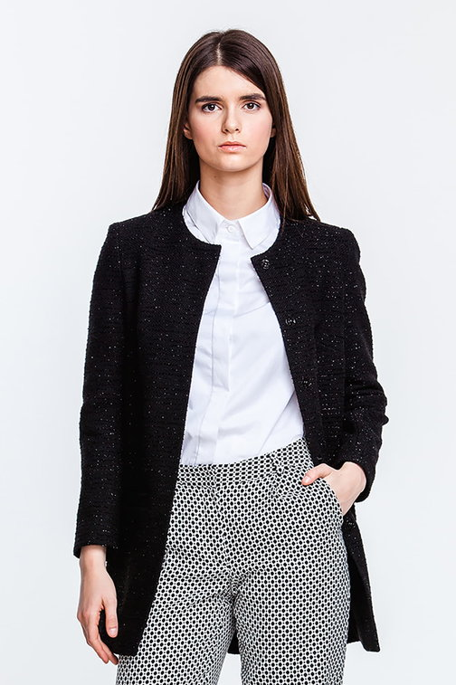 Black jacket with lurex