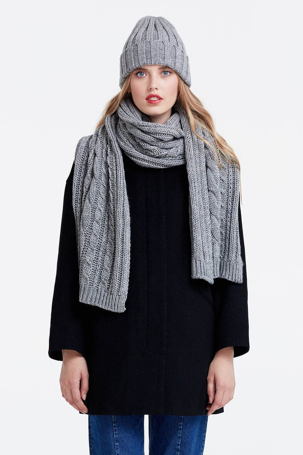 Grey scarf photo 1 - MustHave online store