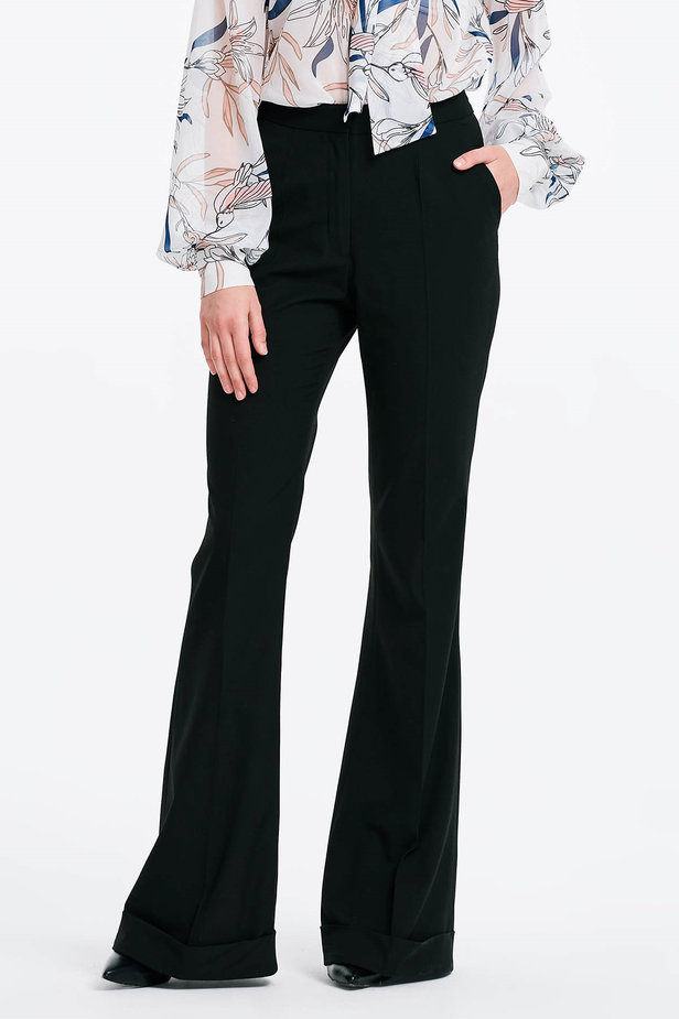 Flared black trousers photo 1 - MustHave online store