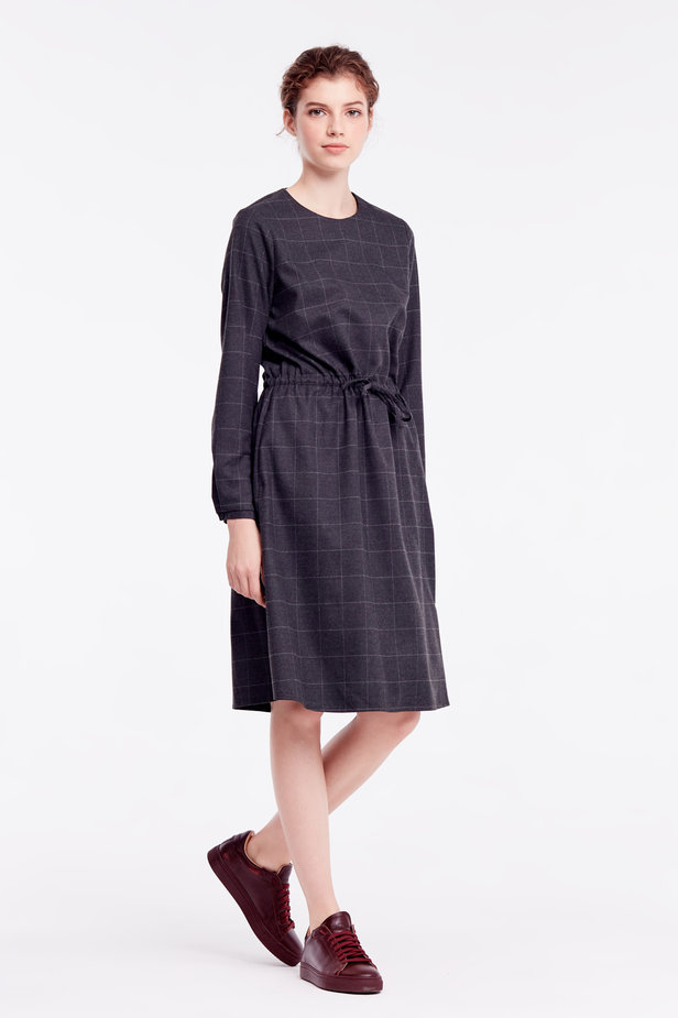 Below-knee grey dress photo 7 - MustHave online store