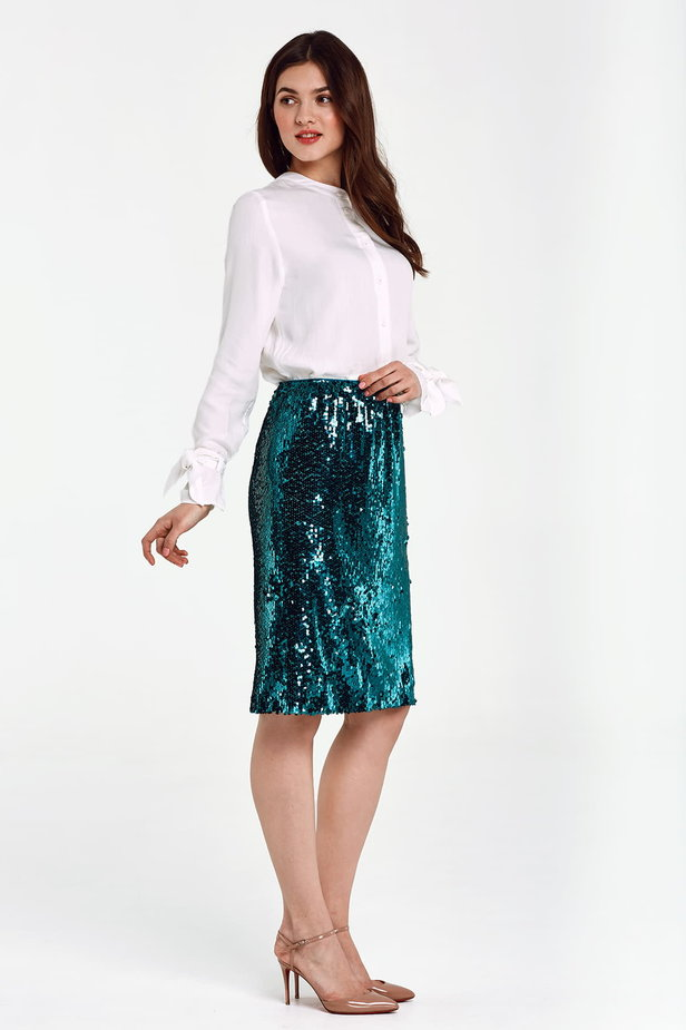 Green sequin skirt photo 5 - MustHave online store