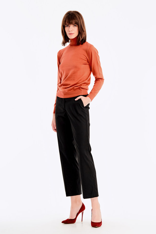 Terra-cotta knit polo neck photo 3 - MustHave online store