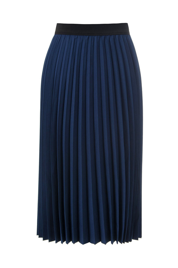 Below the knee pleated blue skirt photo 6 - MustHave online store