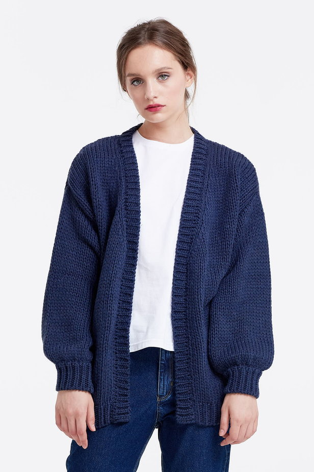 Swing dark blue cardigan photo 1 - MustHave online store