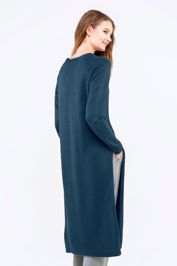 Blue tunic with slits photo 5 - MustHave online store