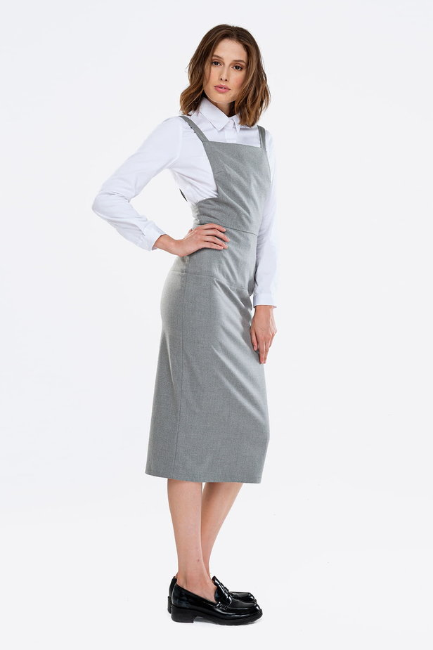Grey sundress with straps photo 2 - MustHave online store