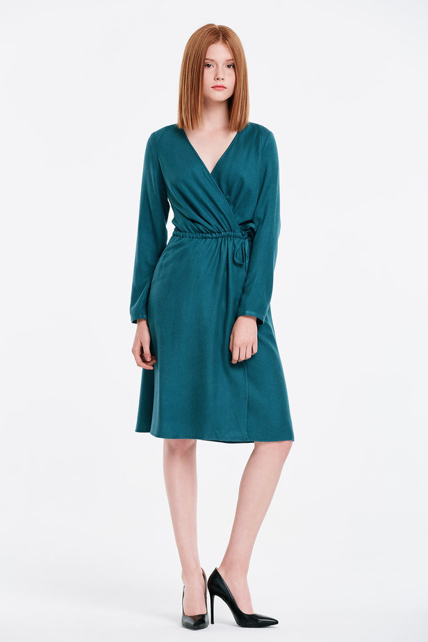 Wrap marine green dress photo 5 - MustHave online store