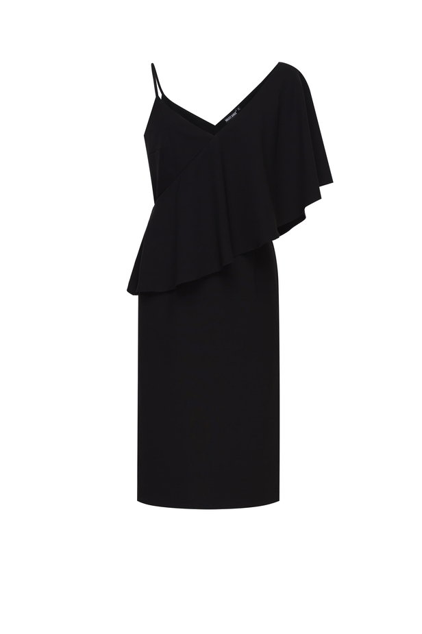 One shoulder dress with a flounce photo 8 - MustHave online store