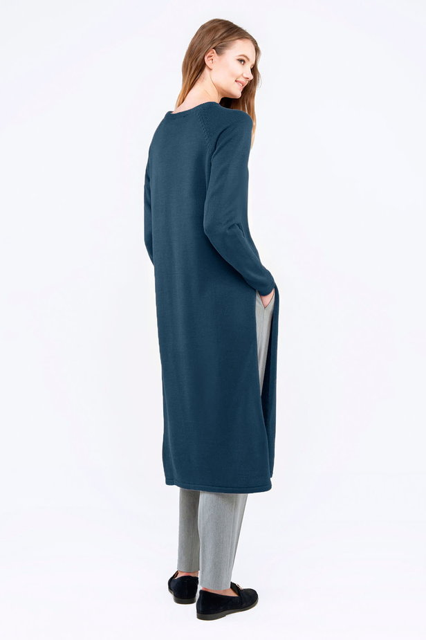 Blue tunic with slits photo 3 - MustHave online store