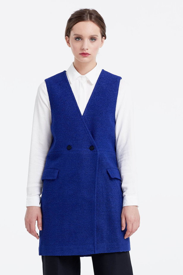 Long blue vest photo 1 - MustHave online store