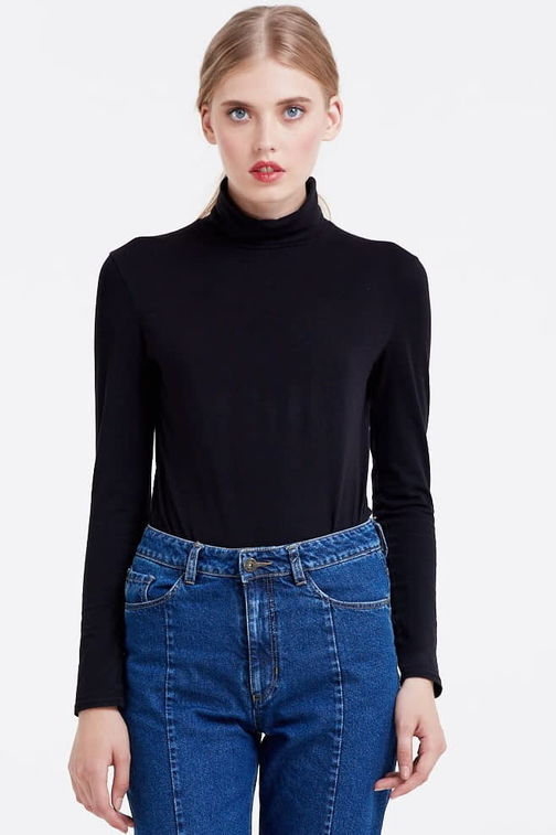 Black polo neck