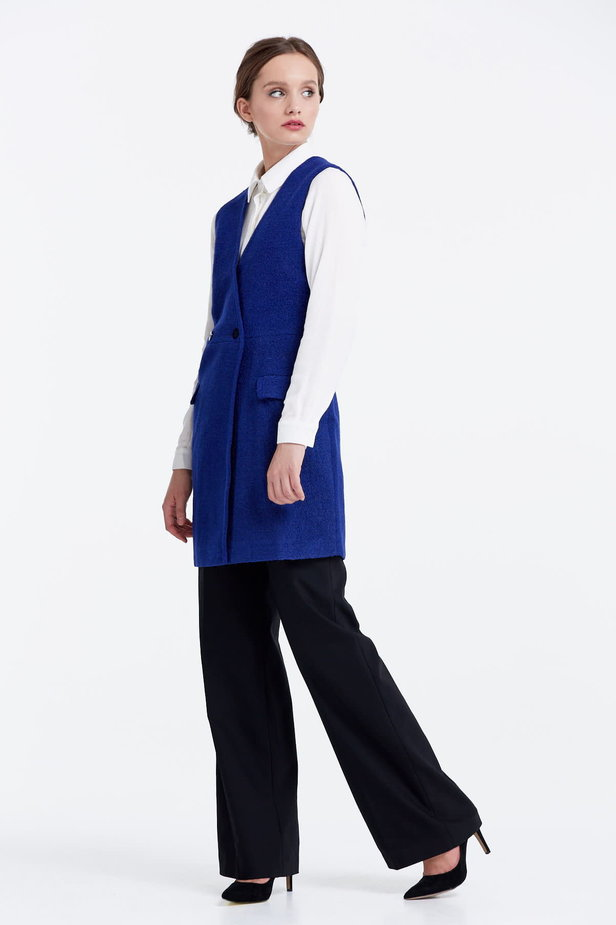 Long blue vest photo 2 - MustHave online store