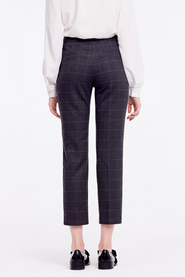 Cropped grey checkered pants photo 4 - MustHave online store