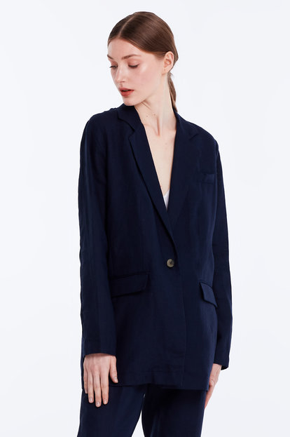 Dark-blue linen jacket