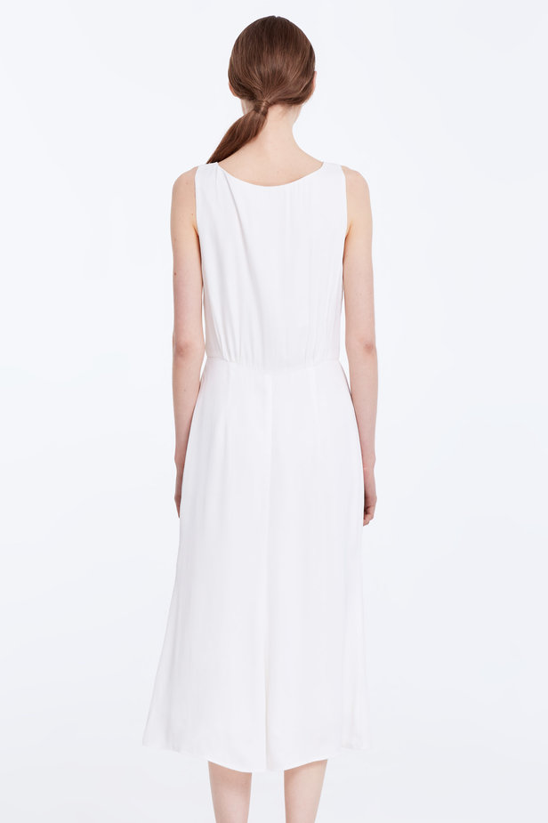 Midi white sundress with buttons photo 5 - MustHave online store
